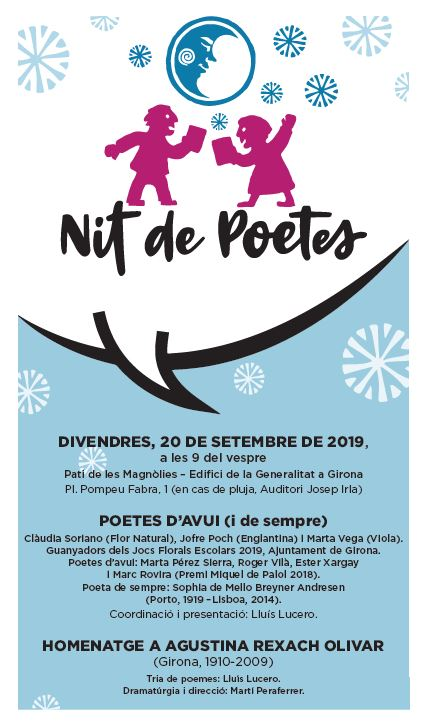 Resultado de imagen de nit de poetes Girona